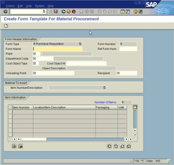 Create Template for Requisition Form